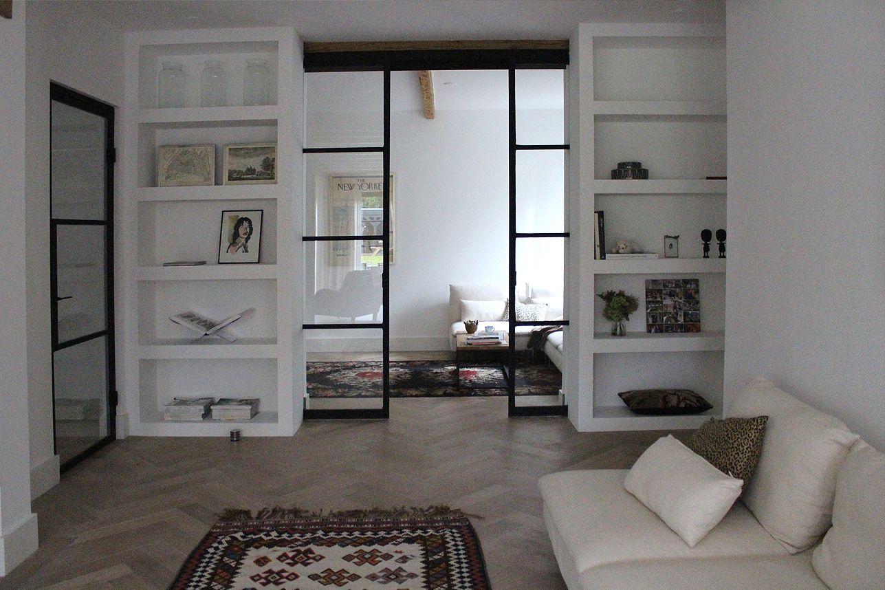 Stalen deuren kamer en suite pinterest stalen deuren deuren en binnendeuren - Kamer wit design ...