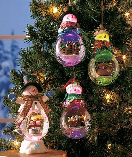 Lighted Waterglobe Snowmen ABC Distributing Seasonal Ideas and