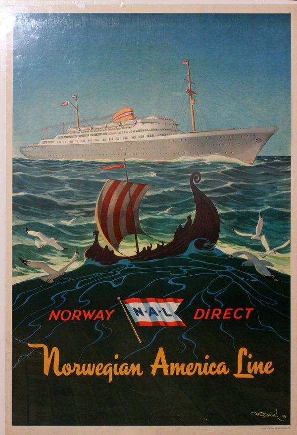 Norwegian America Lines 1948 M/S Oslofjord