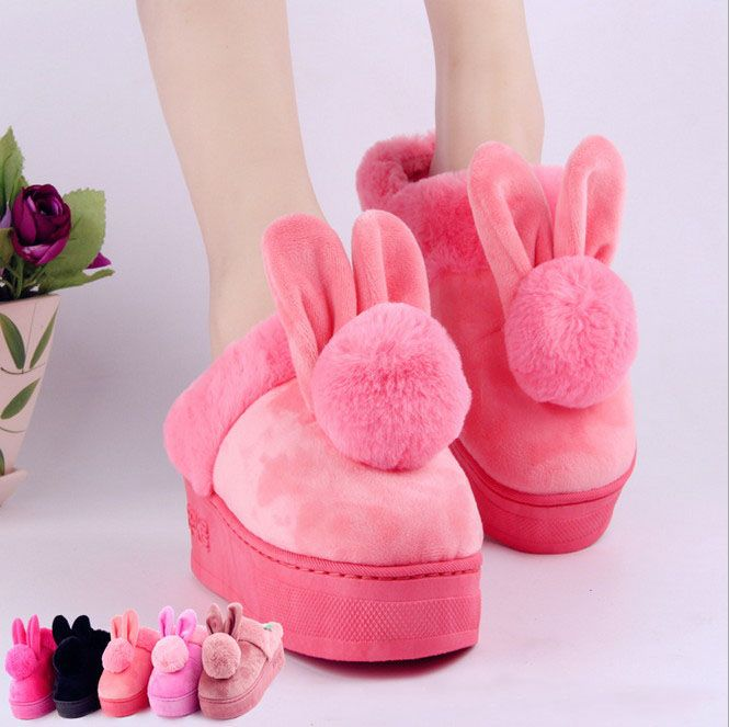 >> Click to Buy << Winter Indoor rabbit Slipper Rubber non slip Women home slippers Warm and comfortable #Affiliate