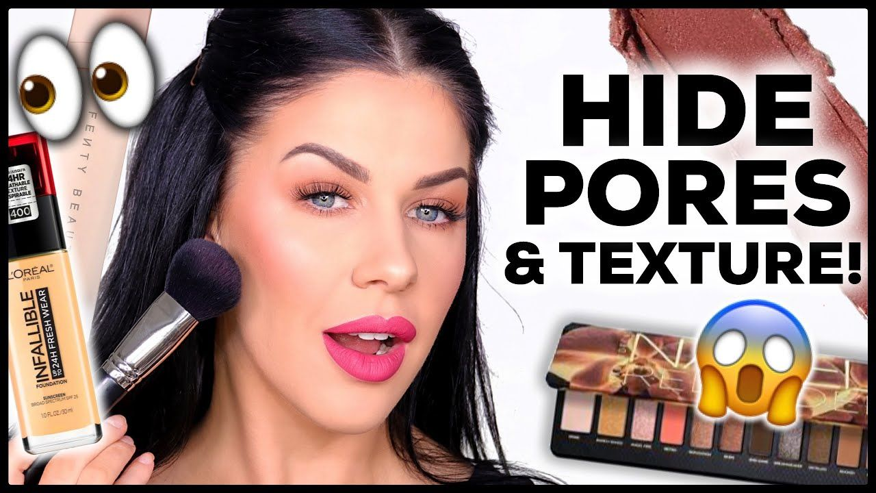 My Ultimate Makeup Routine To Hide Pores/Texture! in 2020