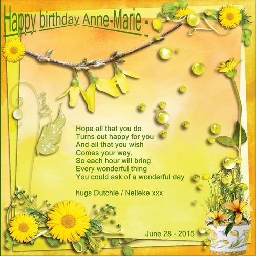 Happy birthday Anne-Marie - June 28 - 2015