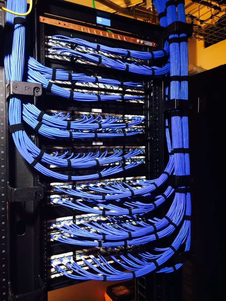 My First Patch Panel Rack Go Easy On Me Guys Haha Cable Management Network Rack Cable
