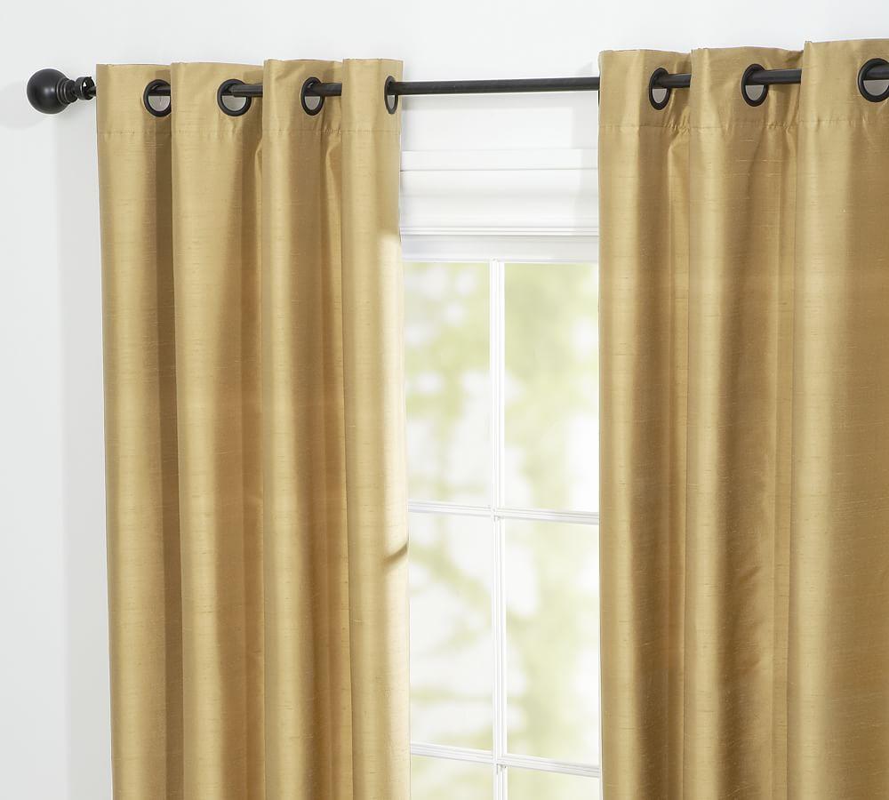 Dupioni Silk Grommet Curtain Living Room Decor Curtains Drapes