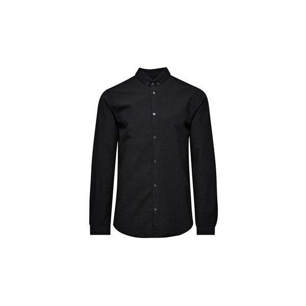 JACK & JONES Simple Oxford Long Sleeved Shirt (125 BRL) ❤ liked on Polyvore featuring mens, men's clothing, men's shirts and men's casual shirts