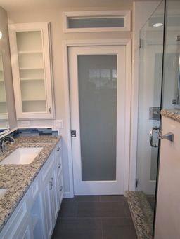 Pin By Joey Allison On Master Bath With Images Pocket Doors Bathroom Glass Pocket Doors Small Closet Door Ideas