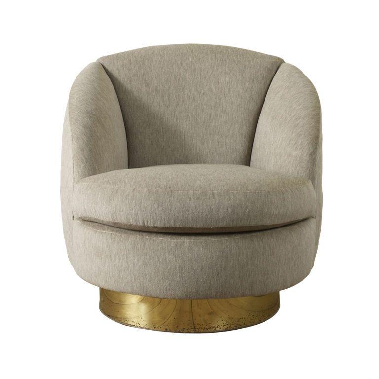 Elegant Swivel Tub Chair By Milo Baughman