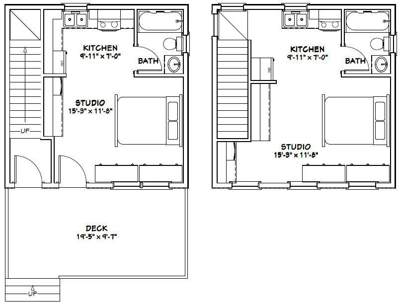 20x20 Duplex 20x20h2 683 Sq Ft Excellent Floor Plans