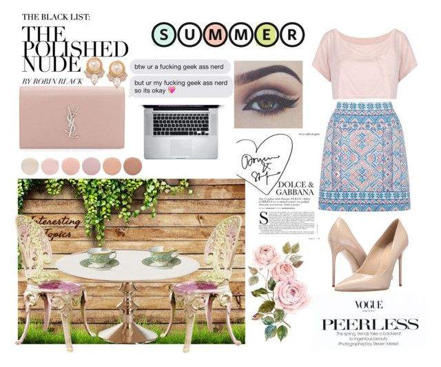 """""""Summer TEA PARTY ✨"""" by sukh-deol on Polyvore featuring WithChic, Lunares, Oasis, Massimo Matteo, Royal Crown Derby, Deborah Lippmann, Yves Saint Laurent, Carolee, Bellezza and teaparty"""