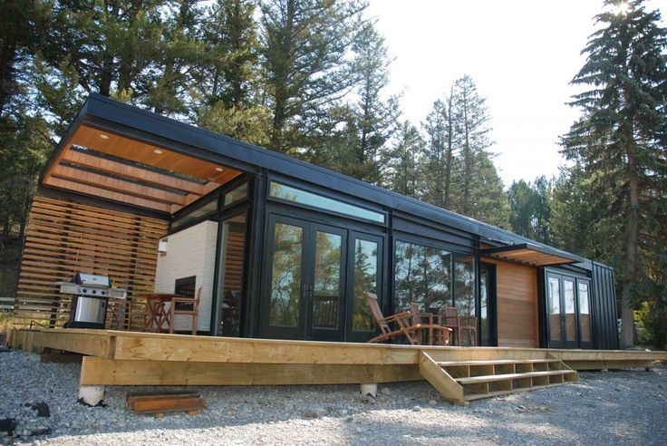 Modern tiny prefab passive house google search tiny for Small modular cabins and cottages