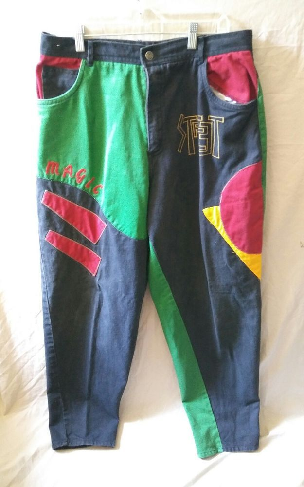 17f66fe14e3 Vintage CROSS COLOURS Colors HiP HoP Pants 90s Fresh Rap Old School Size 34   GiovanniLuomo  CrossColorJeans  HipHopJeans