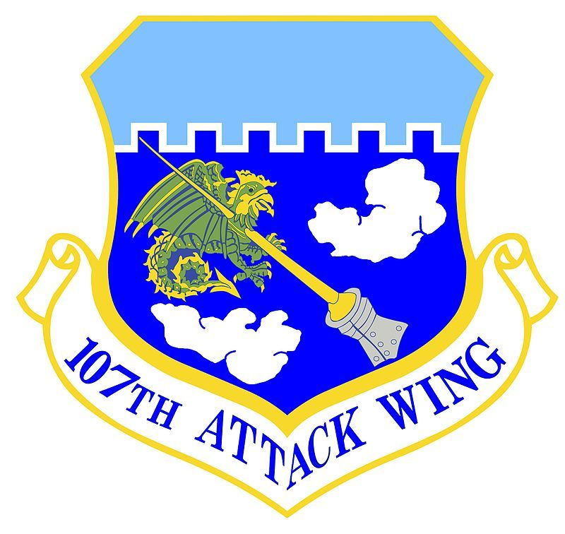 USAF 107th Attack Wing Military insignia, Air force