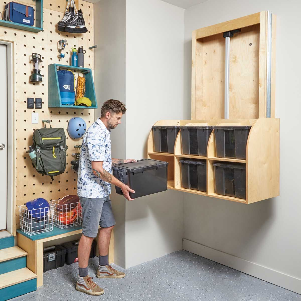 How to Build a Mechanized Storage Lift In Your Garage in