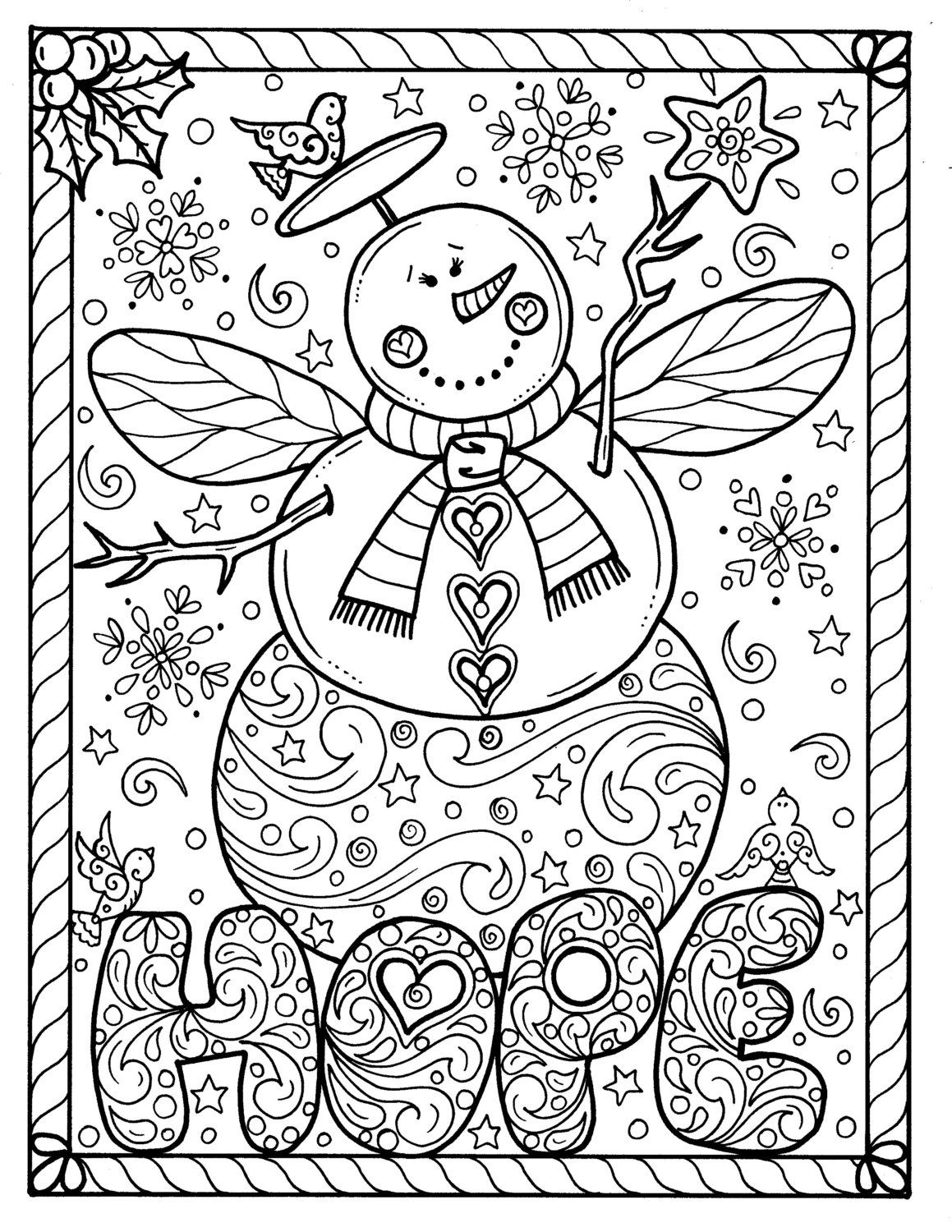 Snow Angel Instant Download Christmas Coloring Page Holidays Etsy Printable Christmas Coloring Pages Angel Coloring Pages Holiday Coloring Book