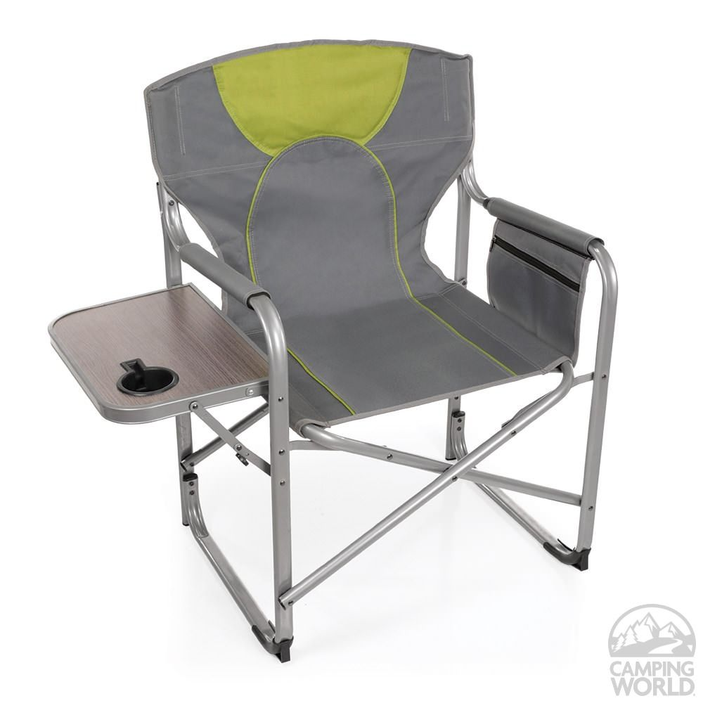 camping chairs with side table little tikes pink and purple director s chair intersource d09 1218 folding world