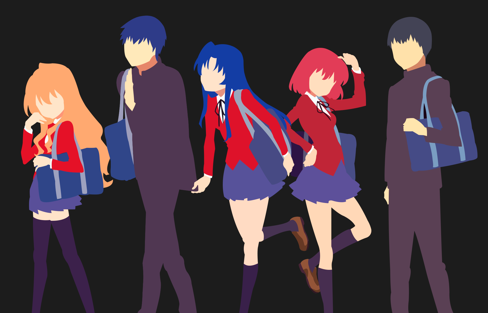 Mw All The Characters From Toradora Toradora Anime Anime Shows