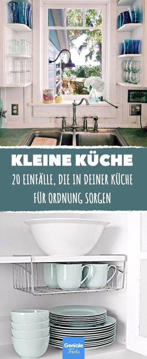 20 Einfälle, die in kleinen Küchen für Ordnung sorgen. #wohnwagen