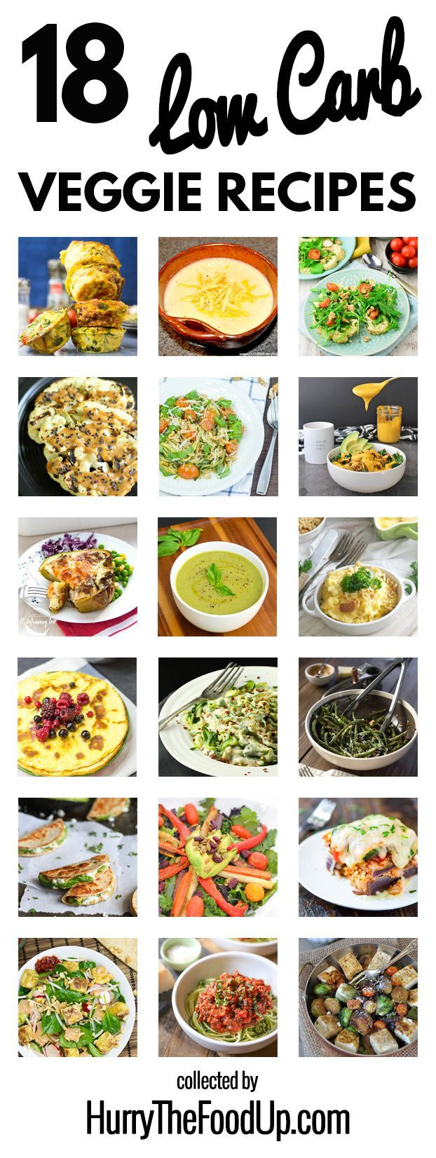 18 Fabulous Low Carb High Taste Vegetarian Recipes Low