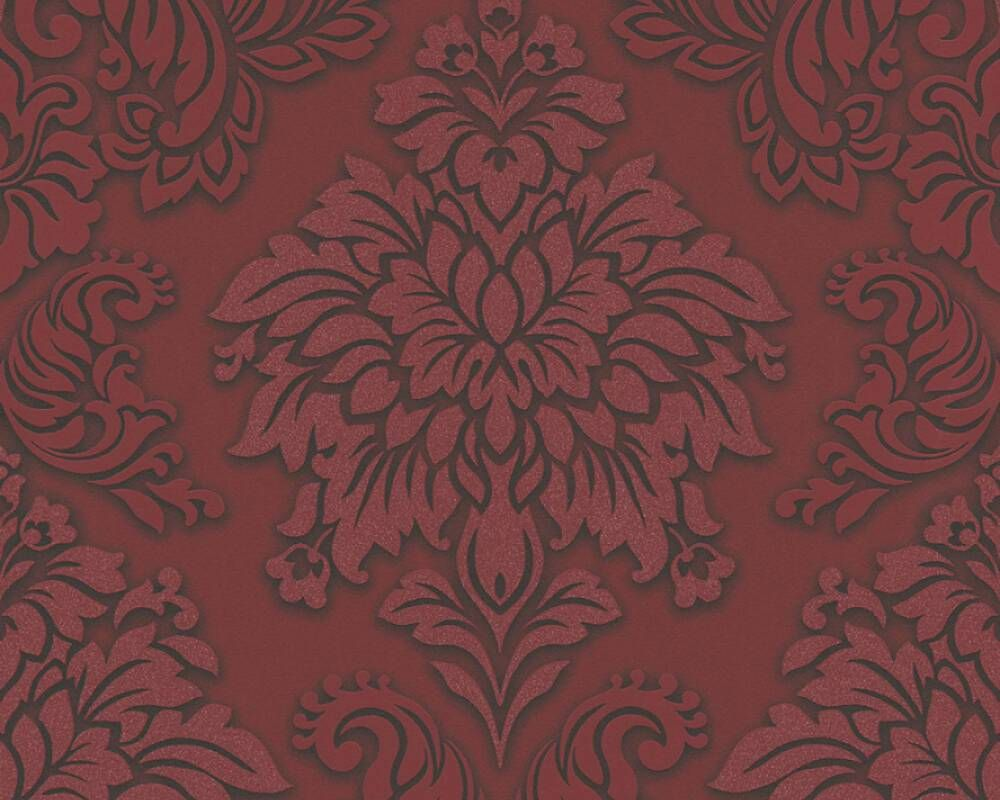 Meredith Classic Baroque Wallpaper In Red Black And Metallic By Bd W Damask Wallpaper Glitter Wallpaper Wallpaper Online