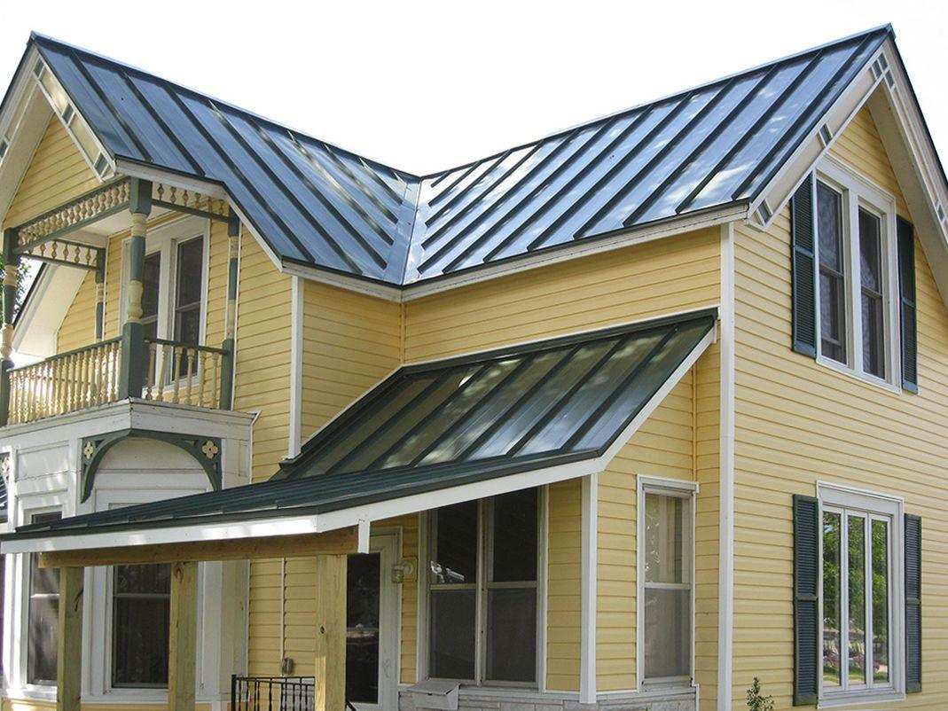 Standing Seam Metal Roof Metal roof houses, Metal roof