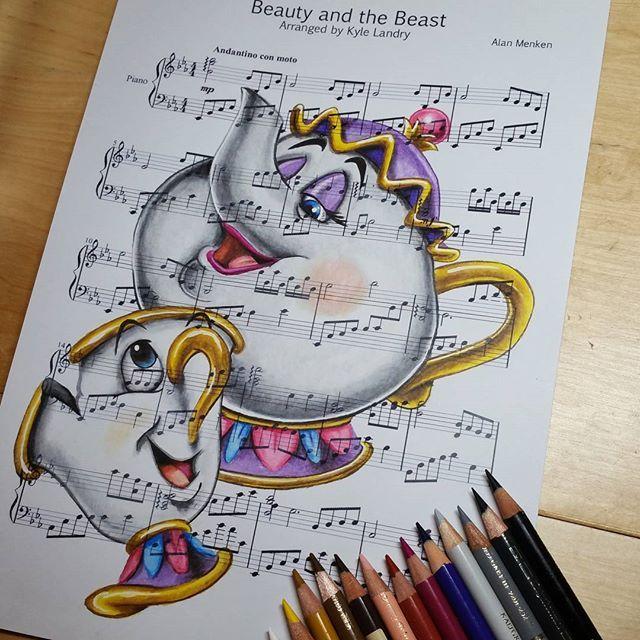 Beauty And The Beast Sheet Music With Lyrics: Beauty And The Beast - Ursula Doughty