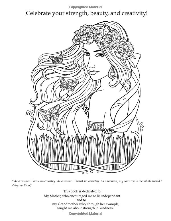 Amazon Com Flowers Fashion Women Of The World Coloring Book 9781537068114 Pamela Duarte Books Coloring Books Coloring Book Pages Color