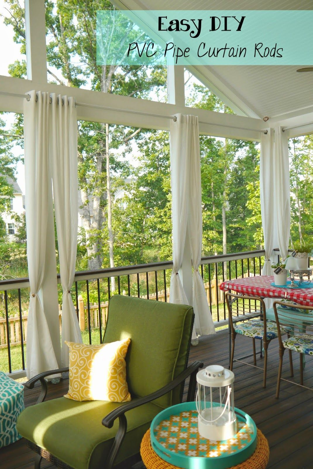 easy and cheap diy pvc pipe curtain rods outdoor curtain rods