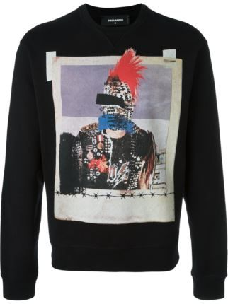 Dsquared2 photo print sweatshirt