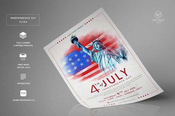 Independence Day Flyer By Monogrph On Creativemarket  Best Flyer