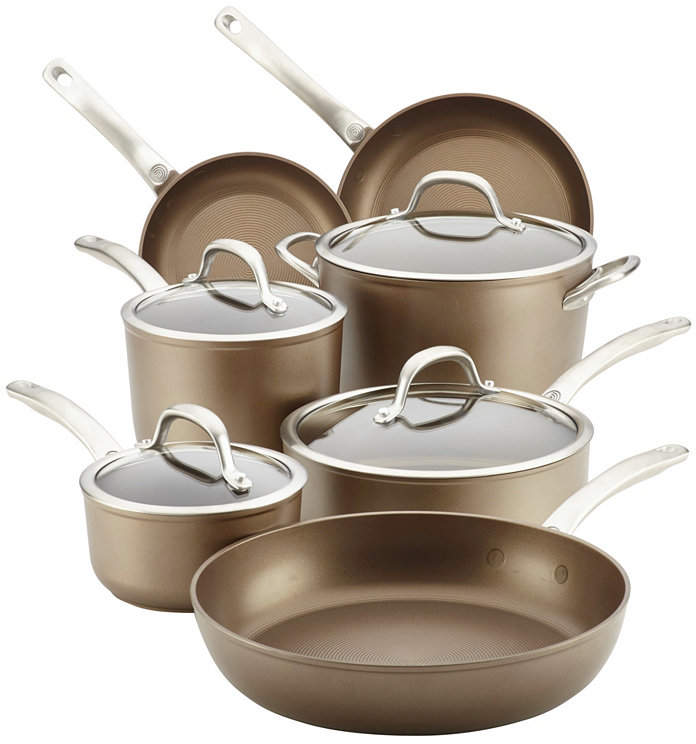 Circulon Ultimum Forged Aluminum Nonstick 11 Piece Cookware Set