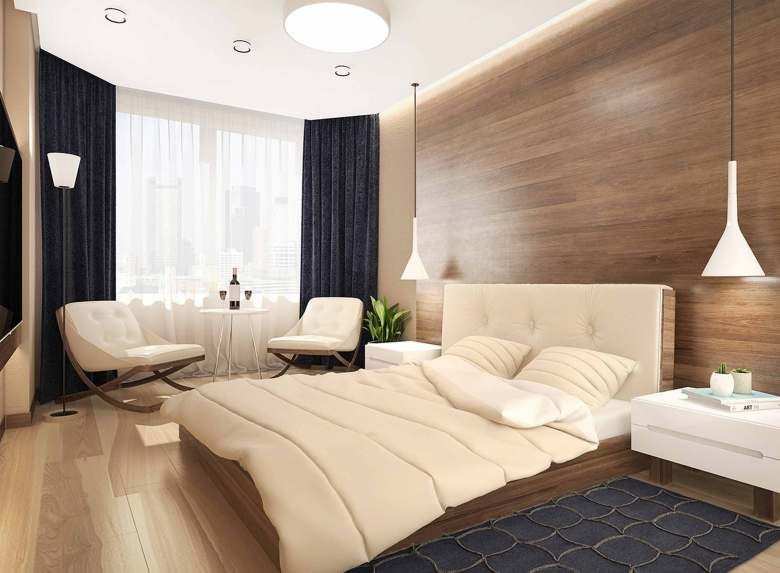 High Quality Fancy Modern Wood Panel Wall Bedroom   Wikrev Dot Com Images