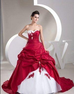 Hochzeitskleid Rot Brautkleid Hochzeitskleidrot