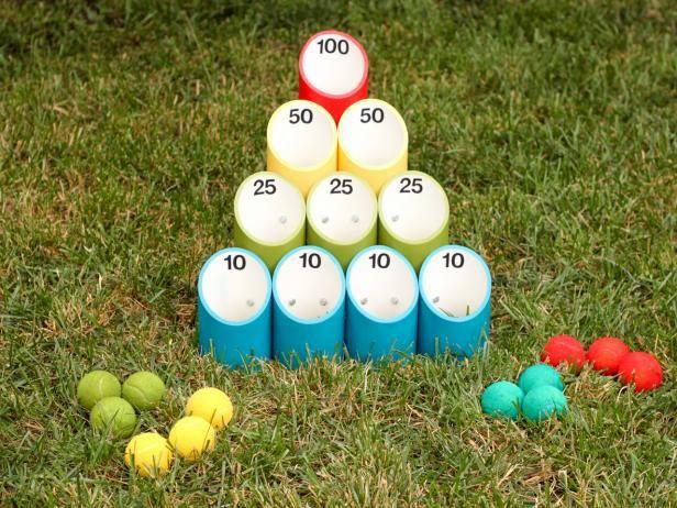 How To Make A Backyard Pipe Ball Game Outdoor Fun Pinterest