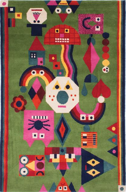 Beautiful rug by Chamo and made by Node.