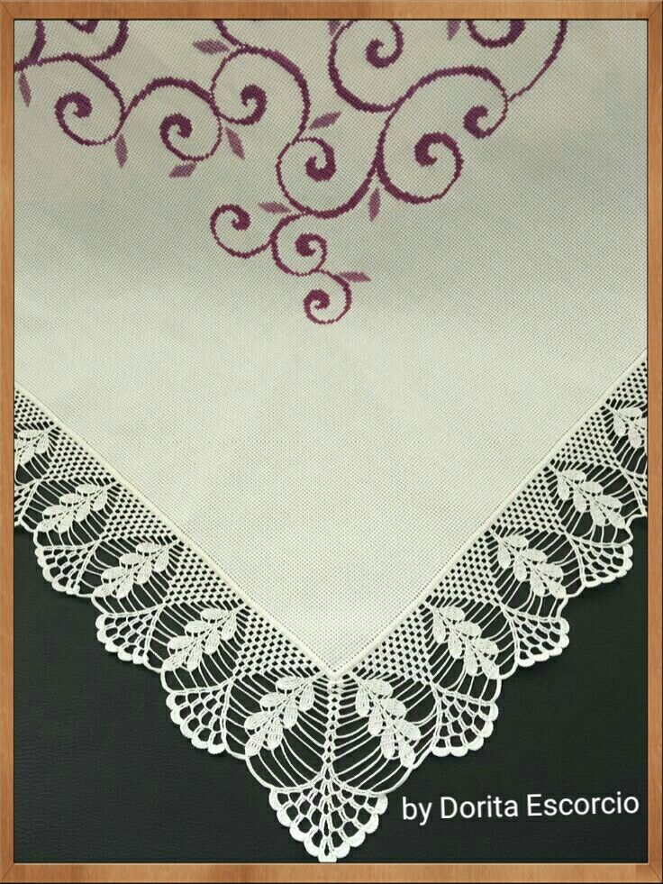Toalha quadrada com barrado em crochet | puntillas | Pinterest ...