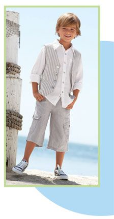 Adorable Boys Outfit For A Family Pic At The Beach Wedding