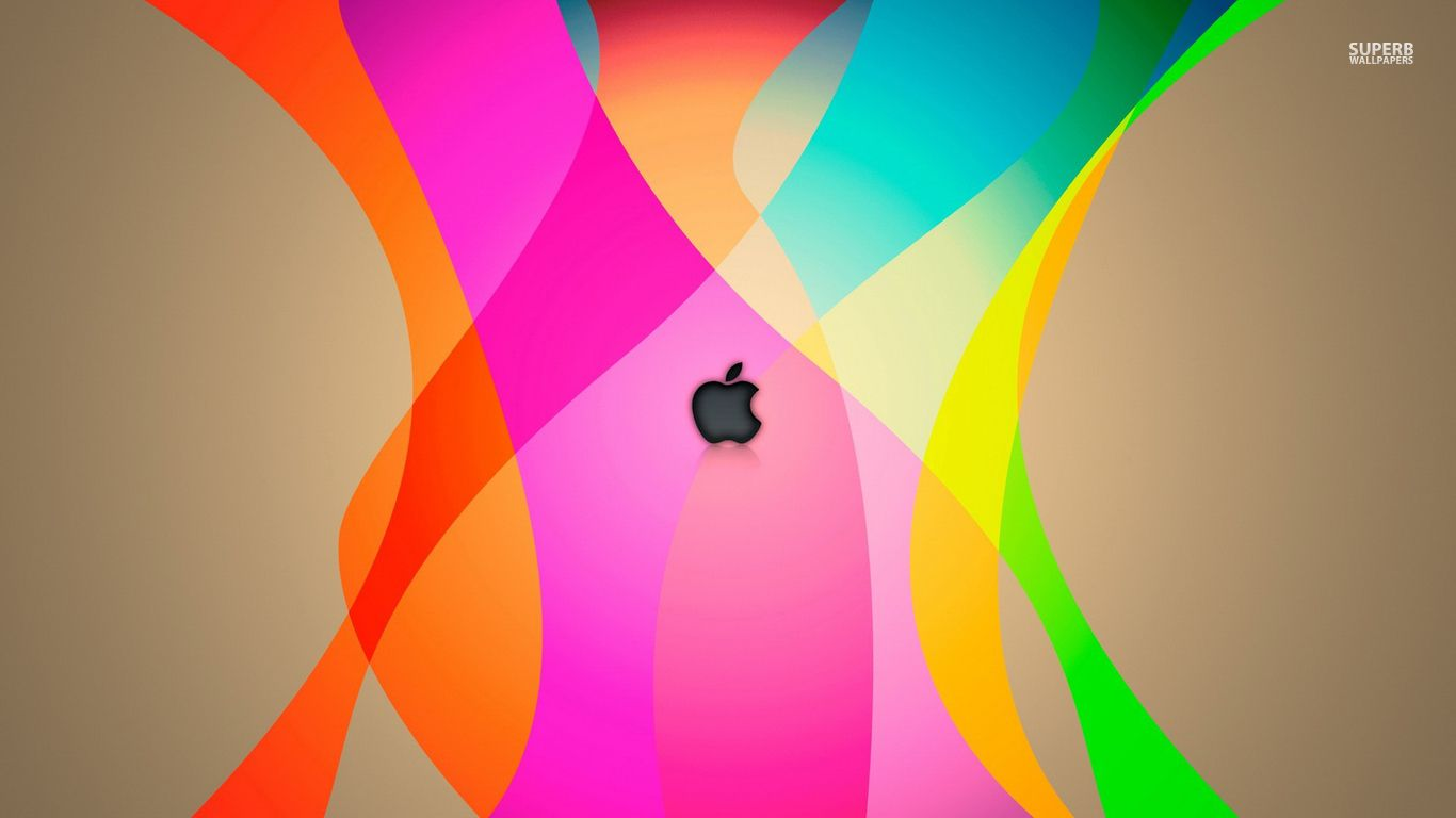 Apple In Rainbow Colors Wallpapers Art