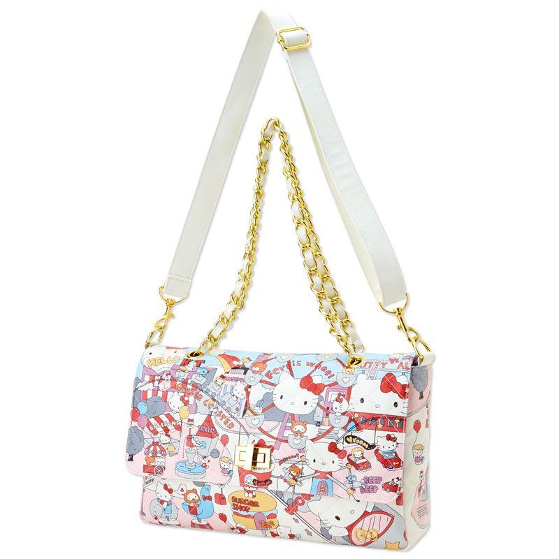 ad2686f8a Hello Kitty 2 Way Shoulder Bag Handbag Amusement Park SANRIO JAPAN ...