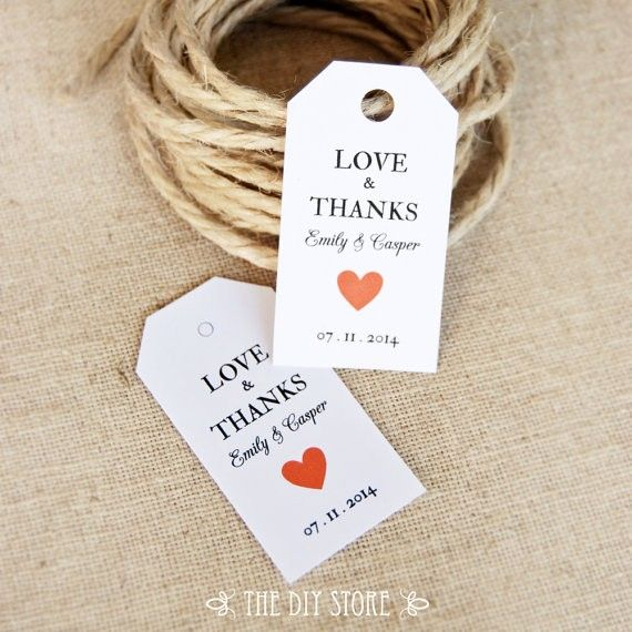 5 95 Wedding Tags Love Thanks Gift Tag Template