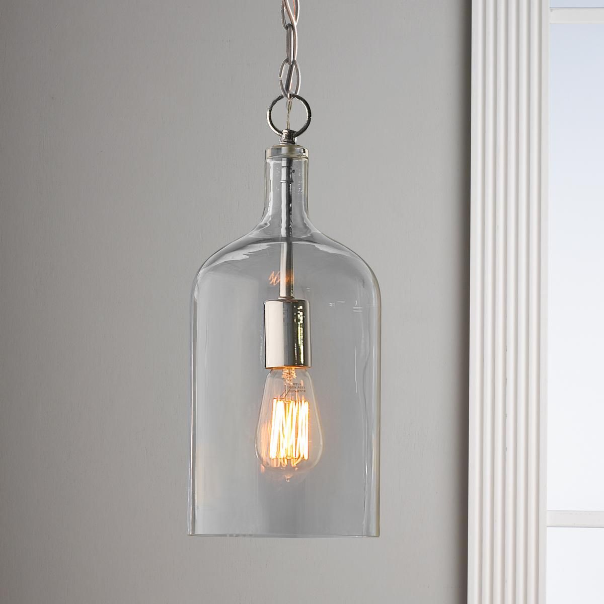 Glass Jug Pendant Light Litchfield Turnpike Bethany
