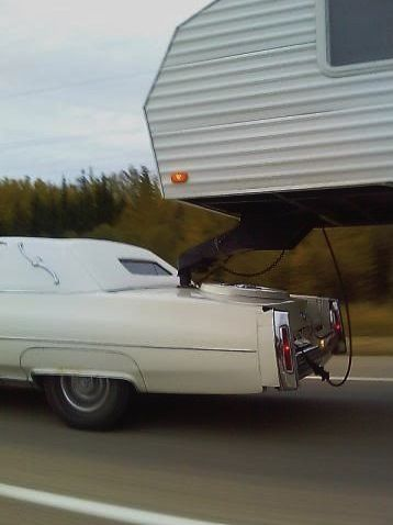 cadillac towing a fifth wheel trailer hilarious - Small 5th Wheel Trailers