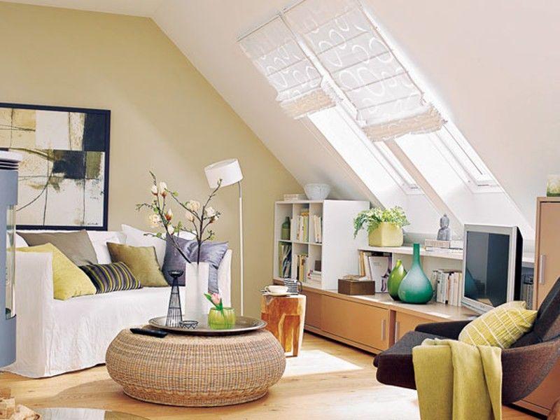16 Praktische Wohnideen Fur Ihre Dachschrage Wohnen Wohnzimmer