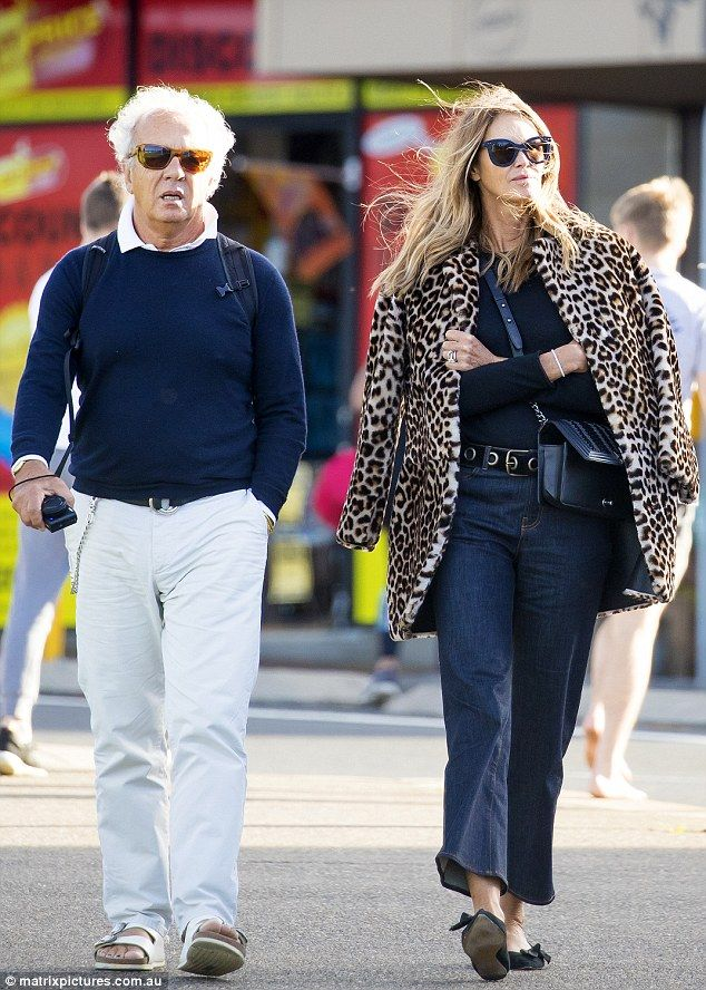 8be8295eb349a7 Elle Macpherson steps out with ex-husband Gilles Bensimon in Sydney ...
