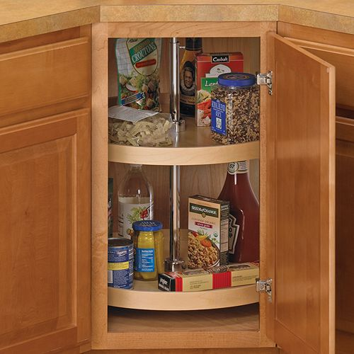 the fullround 18 inch cabinet lazy susan helps transform a cluttered or difficult cabinet