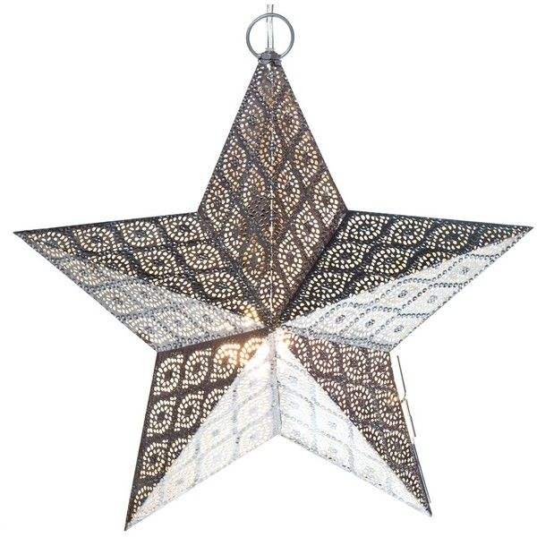 1 955 Czk Liked On Polyvore Featuring Home Decor Holiday Decorations Blue Accessories Metal And Star
