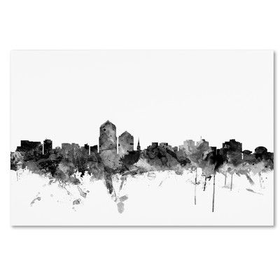 latitude run albuquerque nm skyline b w graphic art on wrapped canvas size 22 h x 32 w x 2 d skyline artwork art skyline art pinterest