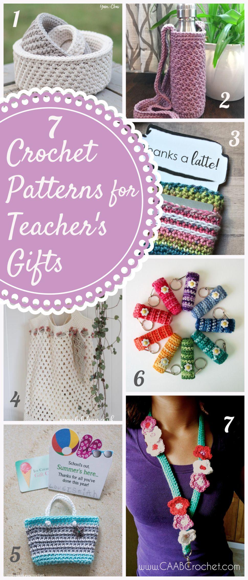 7 crochet patterns for teacher gifts crochet teacher