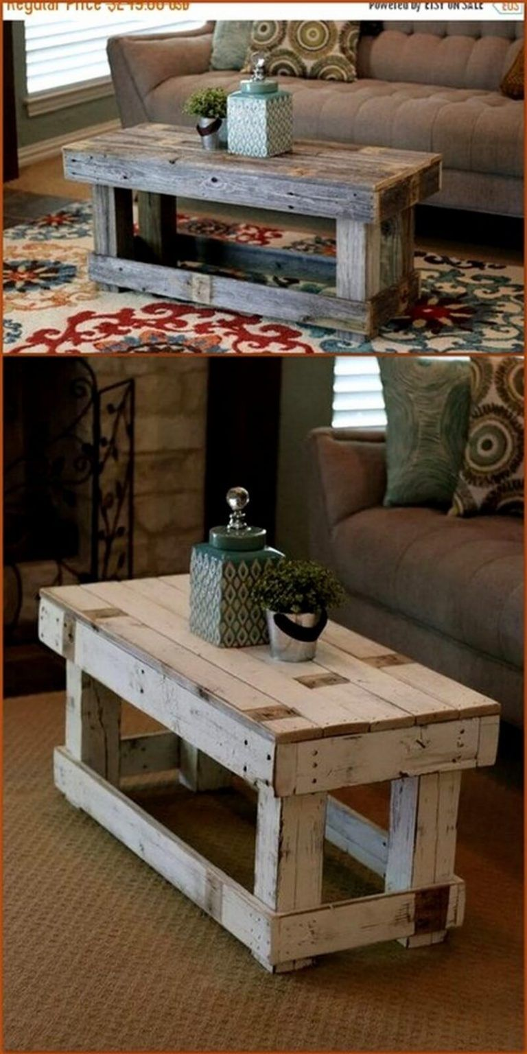 How To Make Furniture From The Wooden Pallet Diy Motivations In 2020 Wooden Pallets Distressed Furniture Painting Furniture