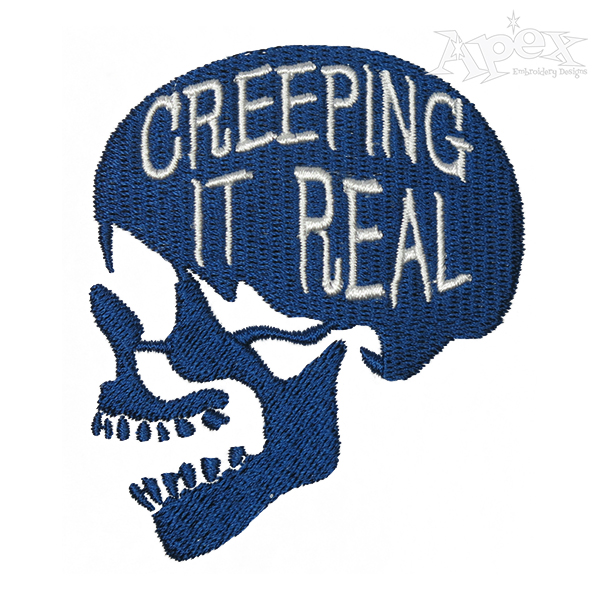 Creeping It Real Skeleton Embroidery Design in 2020