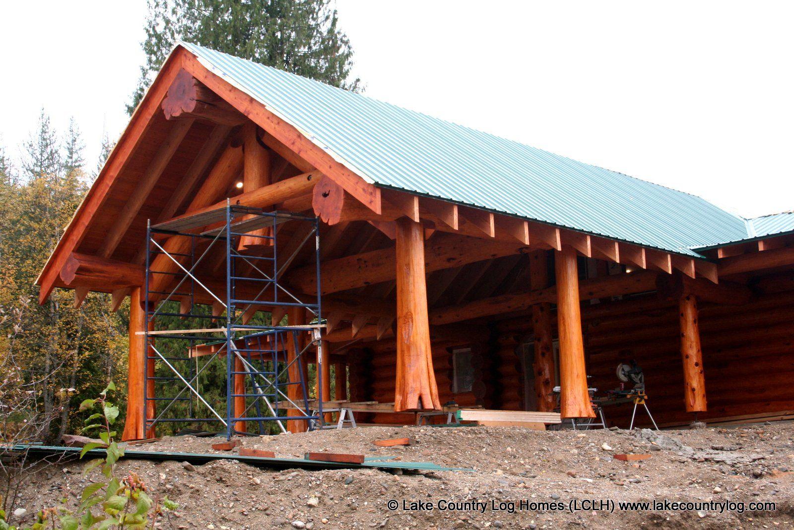 Western Red Cedar Log Carport Log homes, Carport prices
